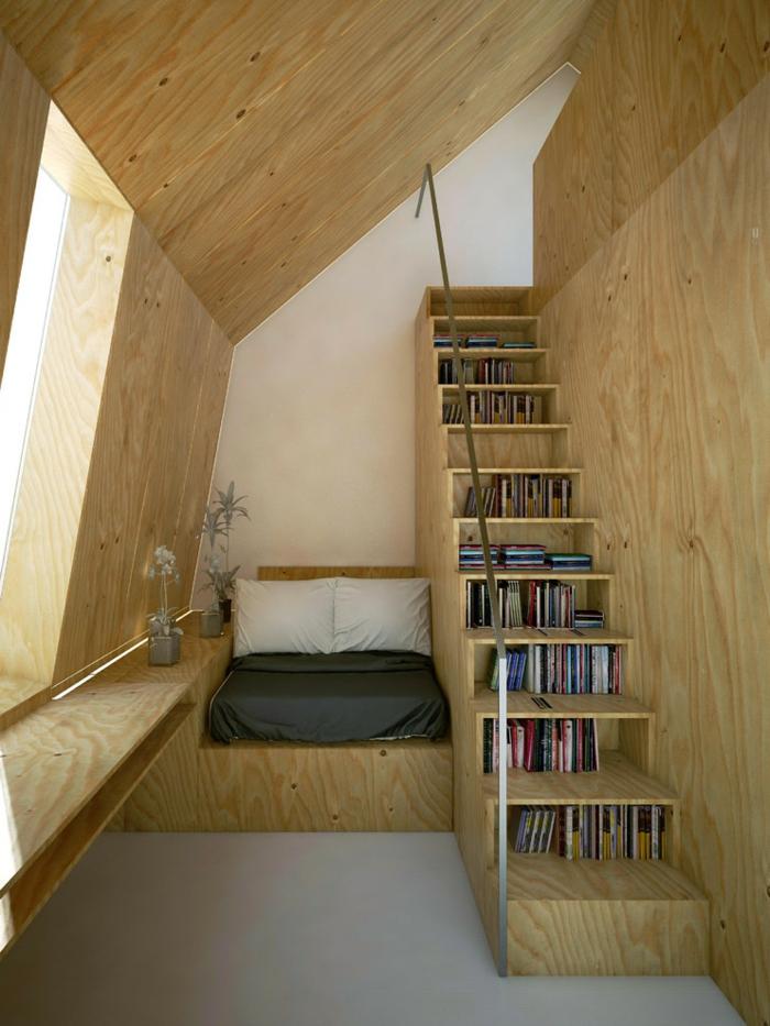aménagement de combles espace de repos style scandinave