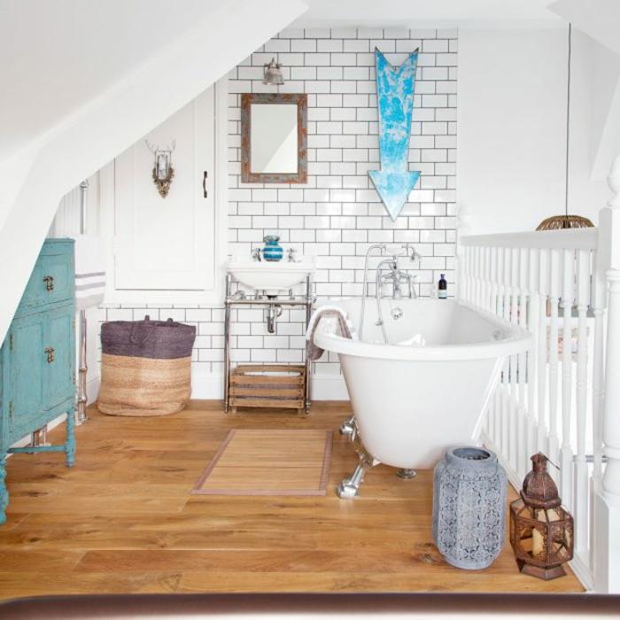 aménagement de combles salle de bains idée