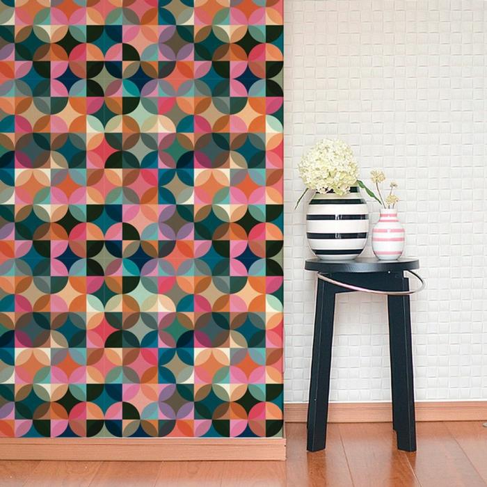 papier peint motif scandinave maison design. Black Bedroom Furniture Sets. Home Design Ideas