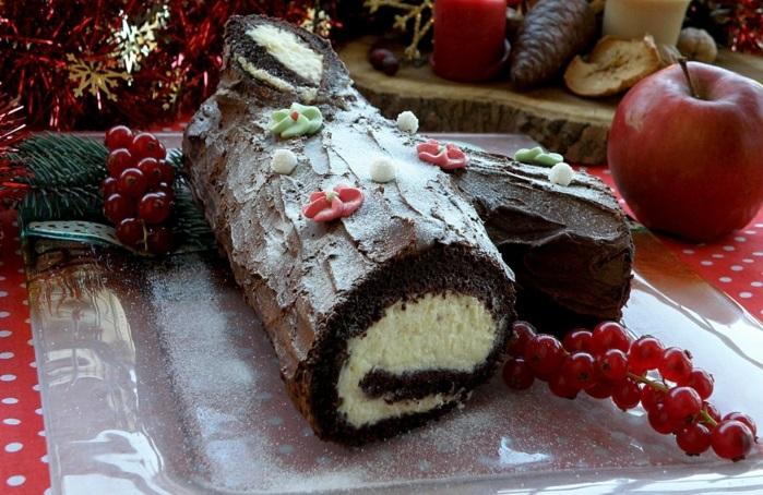 bûche de noël gâteau traditionnel