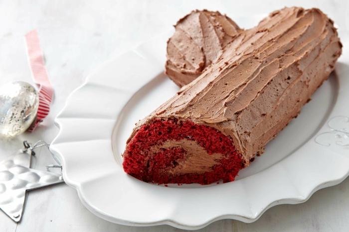 bûche de noël recette sucre rouge