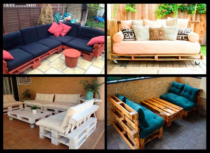 banc palette meubles extérieur