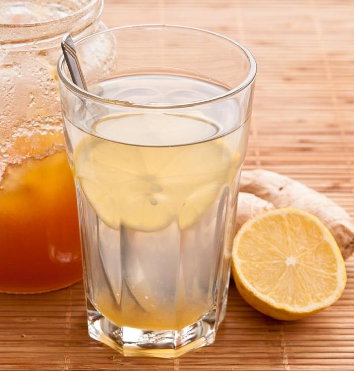 bienfaits du gingembre boisson avec miel et citron