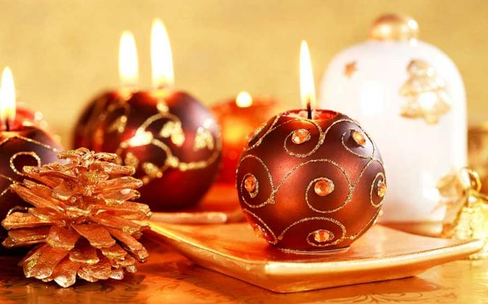 bougeoirs élegants décoration de table de noël