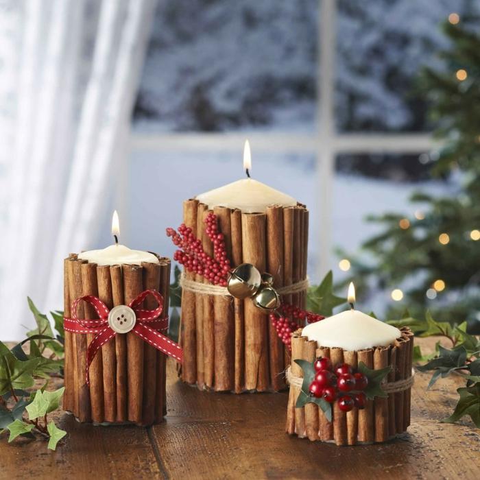 bougies décoration de Noël