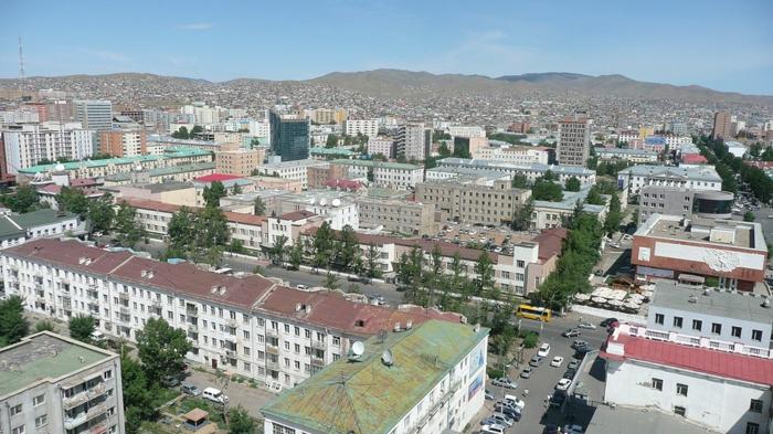 capitale oulan-bator bâtiments soviétiques
