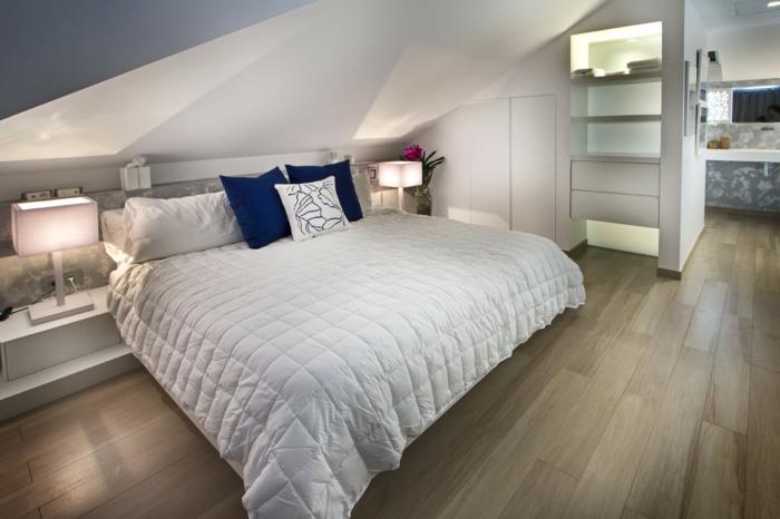 chambre à coucher contemporaine aménagement de combles