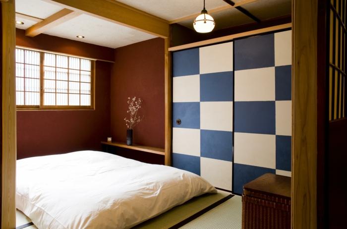 chambre à coucher japonais lit futon