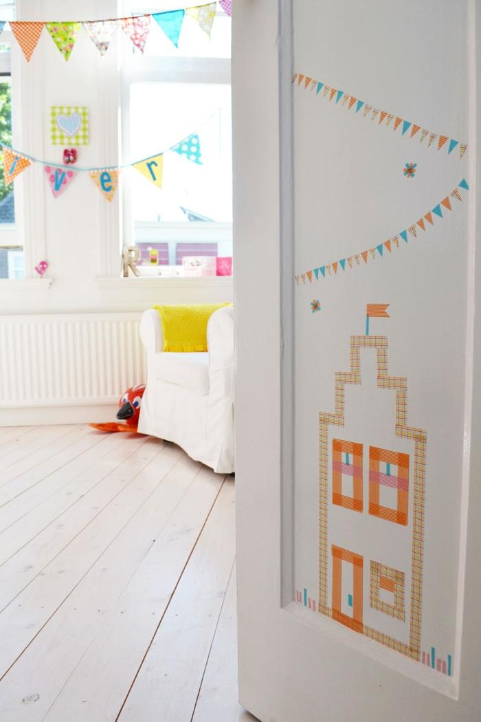 diy masking tape id es inspirantes pour votre int rieur. Black Bedroom Furniture Sets. Home Design Ideas