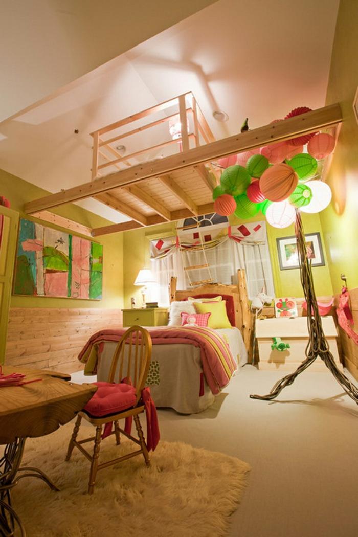 chambre fille ado couleurs vives idée