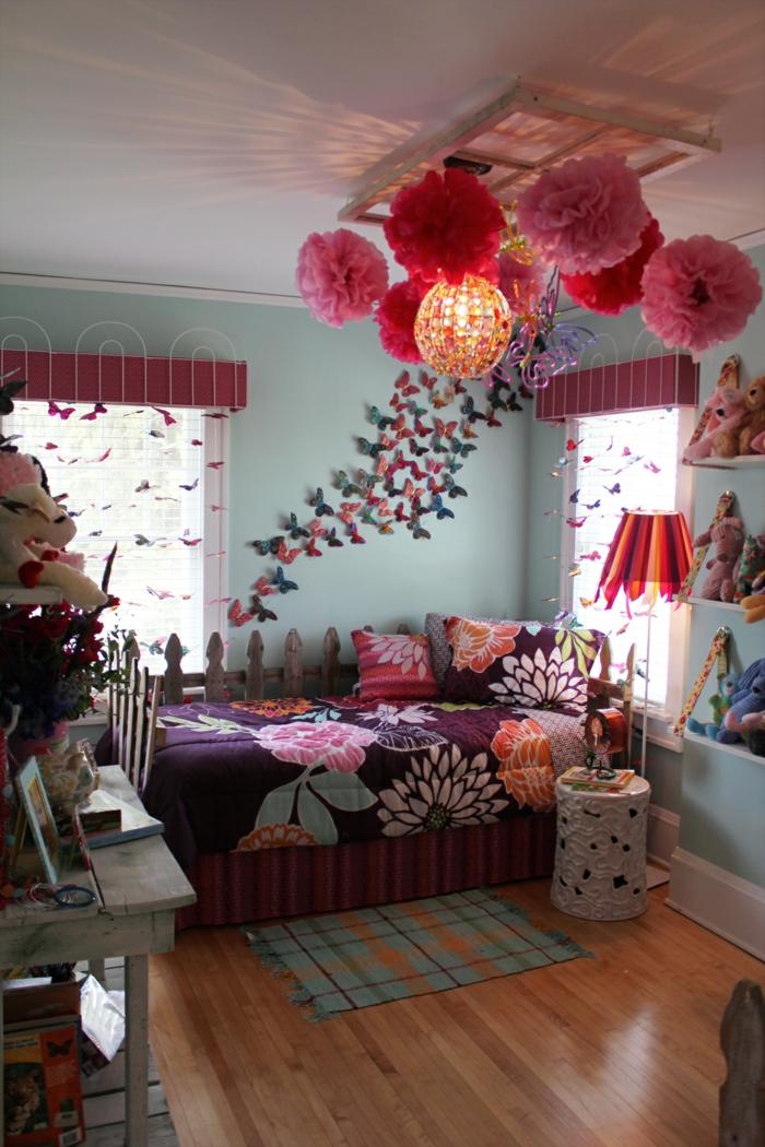 Chambre Colorée Pour Fille. Tellement Lumineuse Et Amusante ! Chambre Fille  Ado Décoration Magnifique