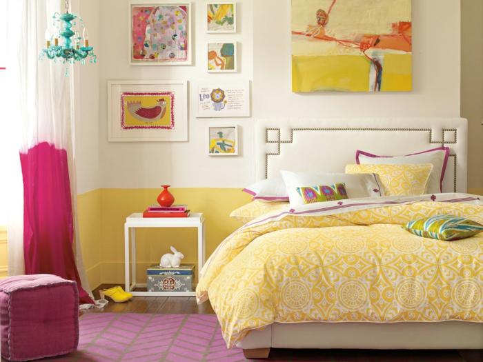 chambre fille ado jaune