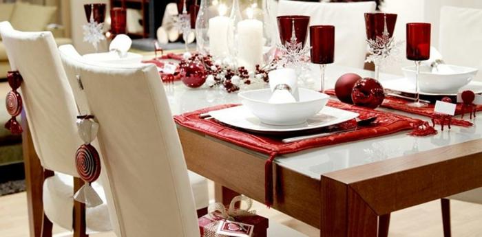 comment arranger table noël décoration de table de noël