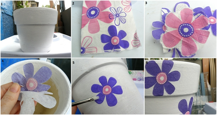 comment réaliser le découpage sur les pots de fleurs