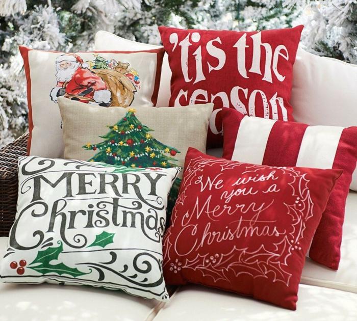 coussins pour décoration de Noël