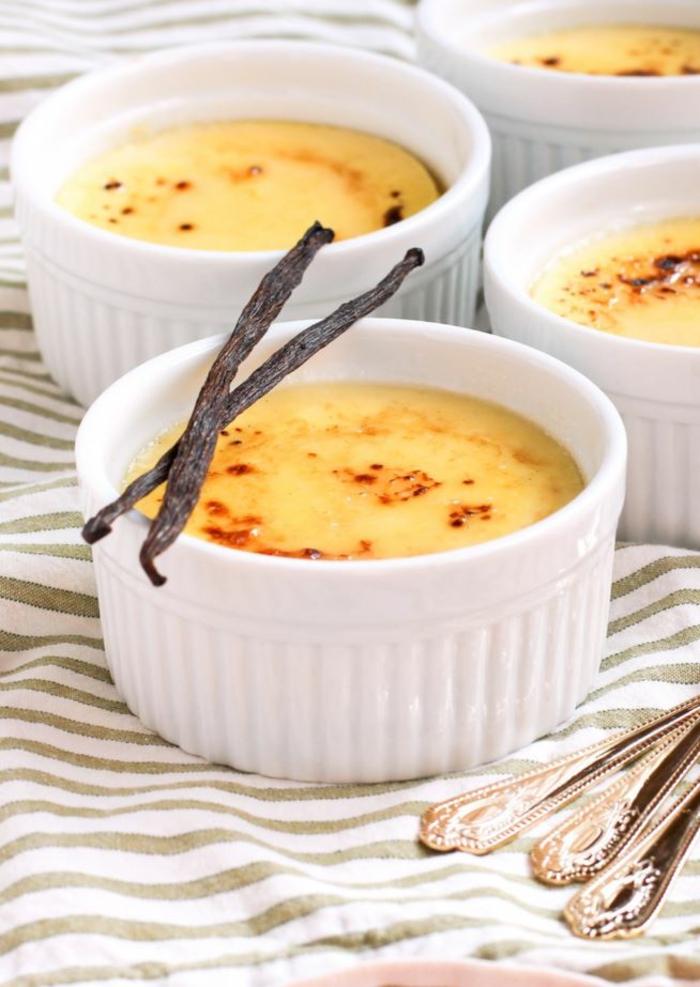 crème brûlée au lait d'amande