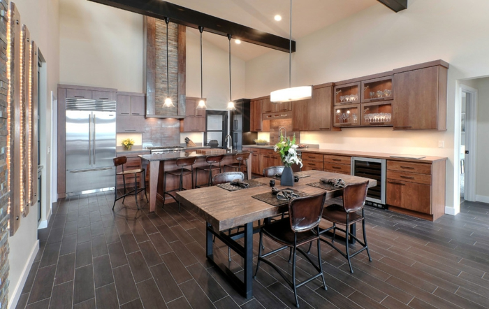 cuisine rustique moderne 30 id es d 39 une conception r ussie. Black Bedroom Furniture Sets. Home Design Ideas