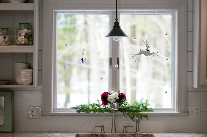 déco fenêtre décoration de Noël