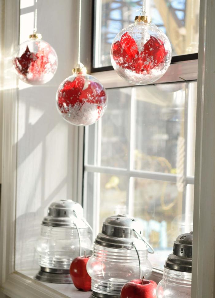 déco fenêtre inspiration pour décoration de Noël