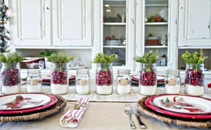 déco fraîche décoration de table de noël