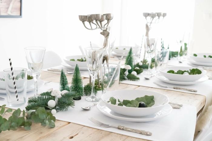 déco minimaliste décoration de table de noël