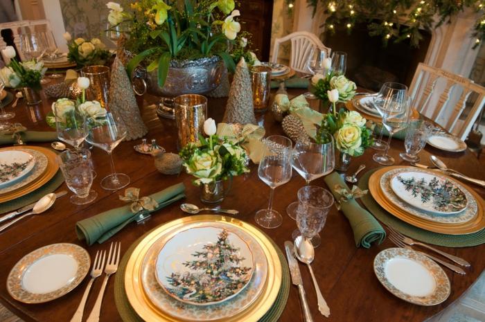 déco style éclectique décoration de table de noël