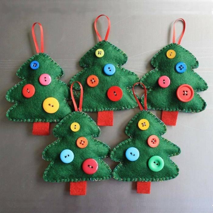 Décoration De Noël à Faire Soi Même Sapin En Feutre Textile