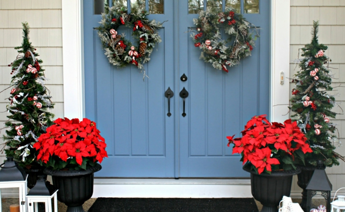 décoration de Noël avec étoile de Noël