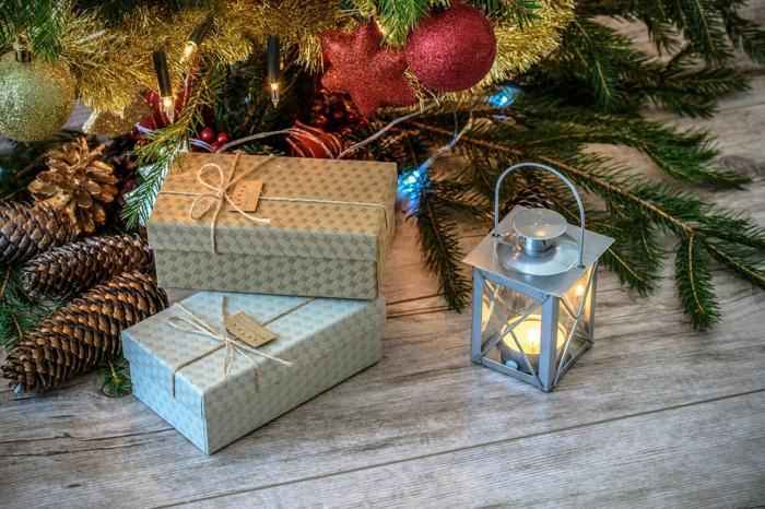 décoration de Noël avec bougie