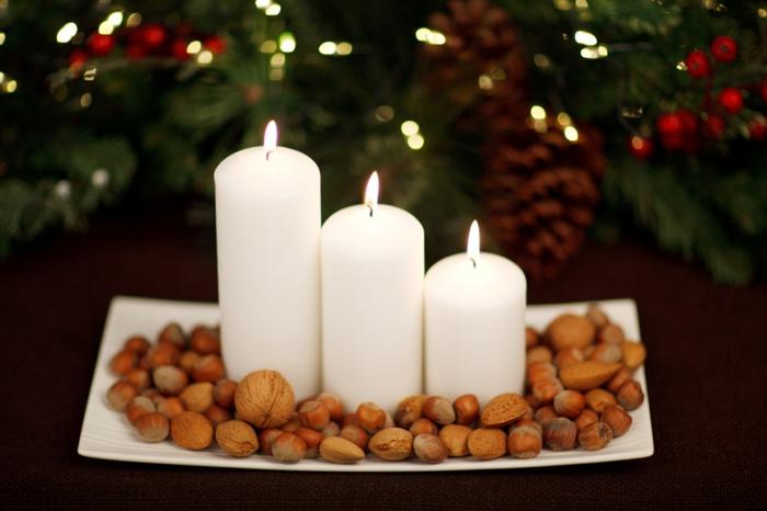 décoration de Noël avec bougies