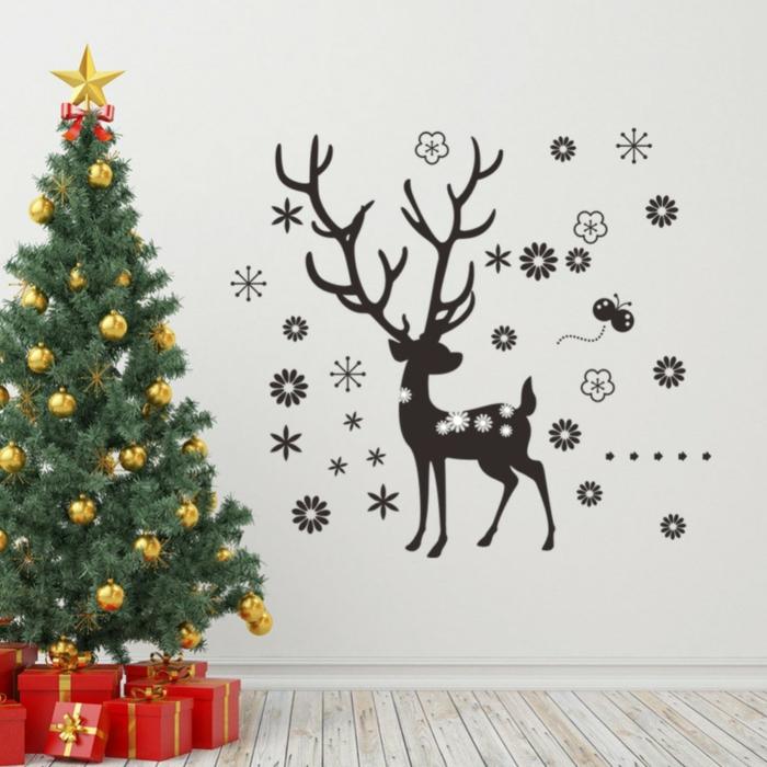 décoration de Noël avec stickers