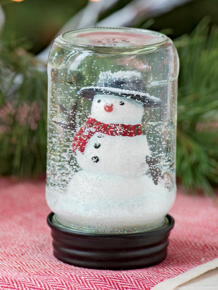 décoration de Noël diy boule à neige