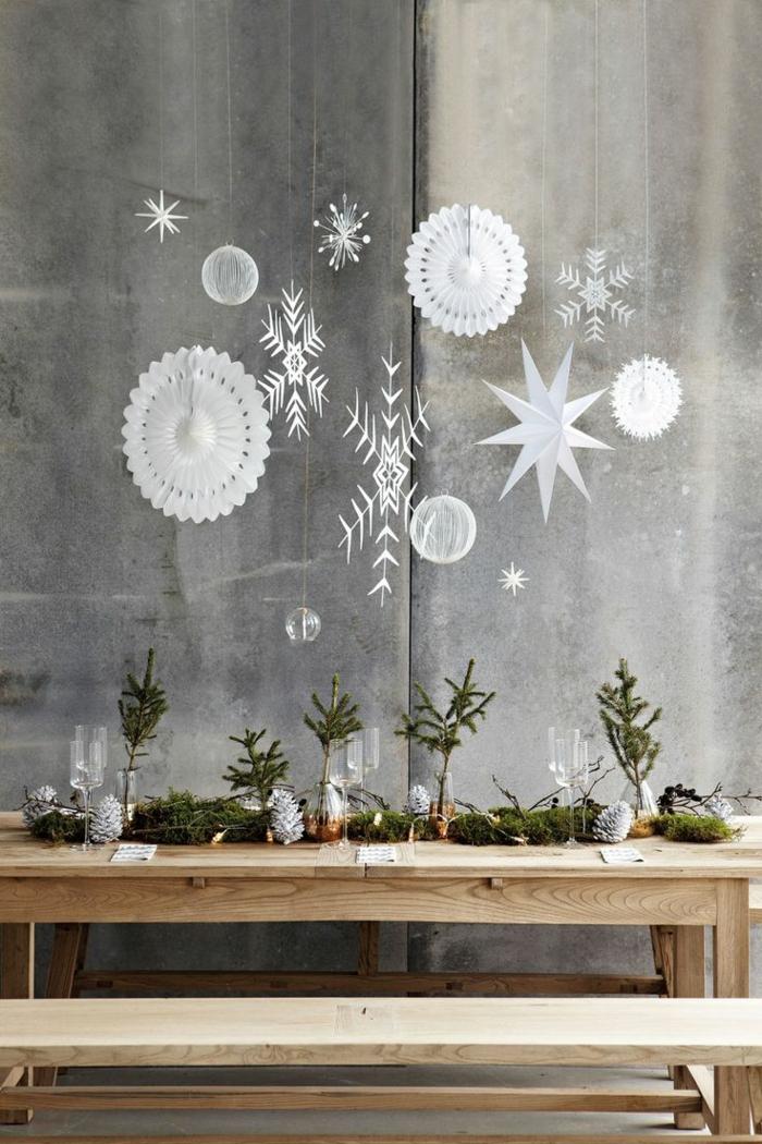 décoration de Noël flocons de neige en papier