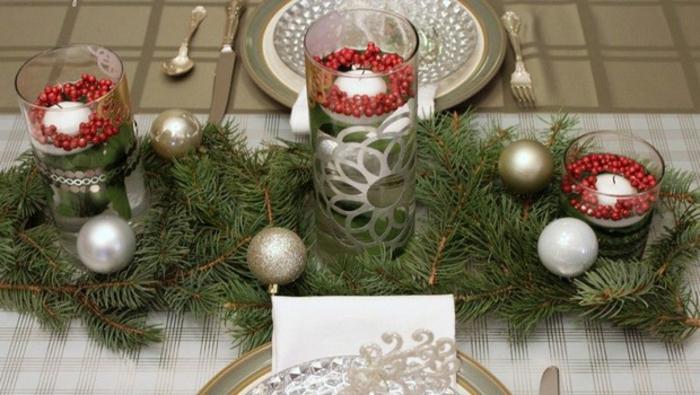 décoration de table de noël bougeoir intéressant