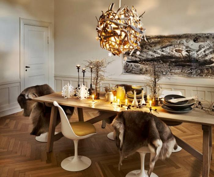 décoration de table de noël déco créative et originale