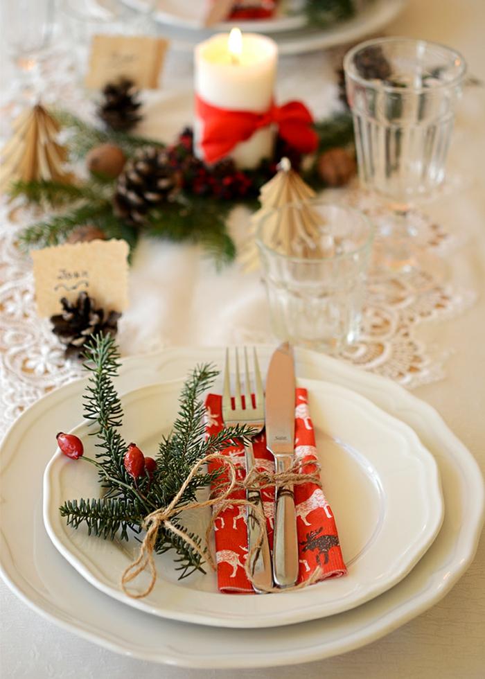 décoration de table de noël déco de plat