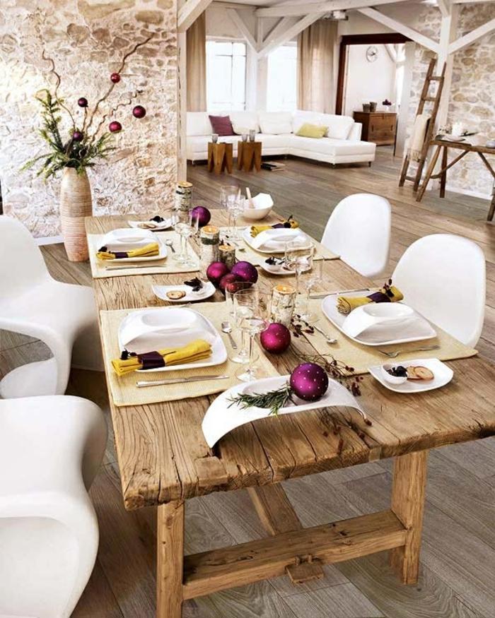 décoration de table de noël déco table festive