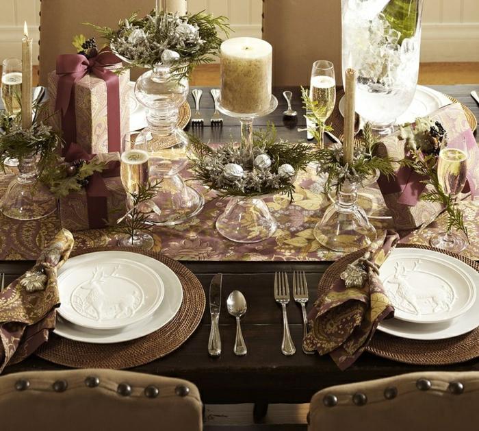 décoration de table de noël déco thématique