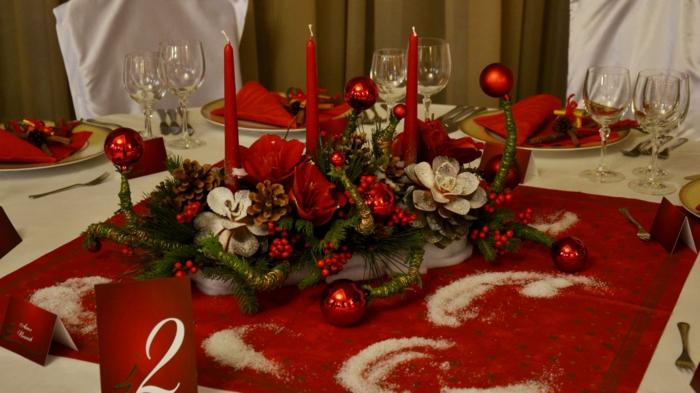 décoration de table de noël fête de noël