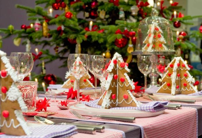 décoration de table de noël idée déco de biscuits de noël