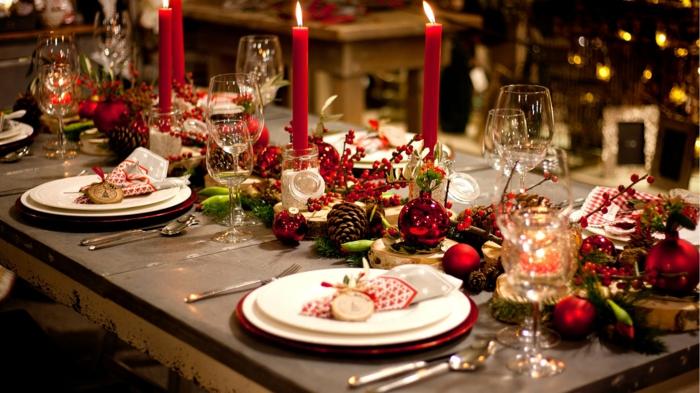 décoration de table de noël impressionner les invités