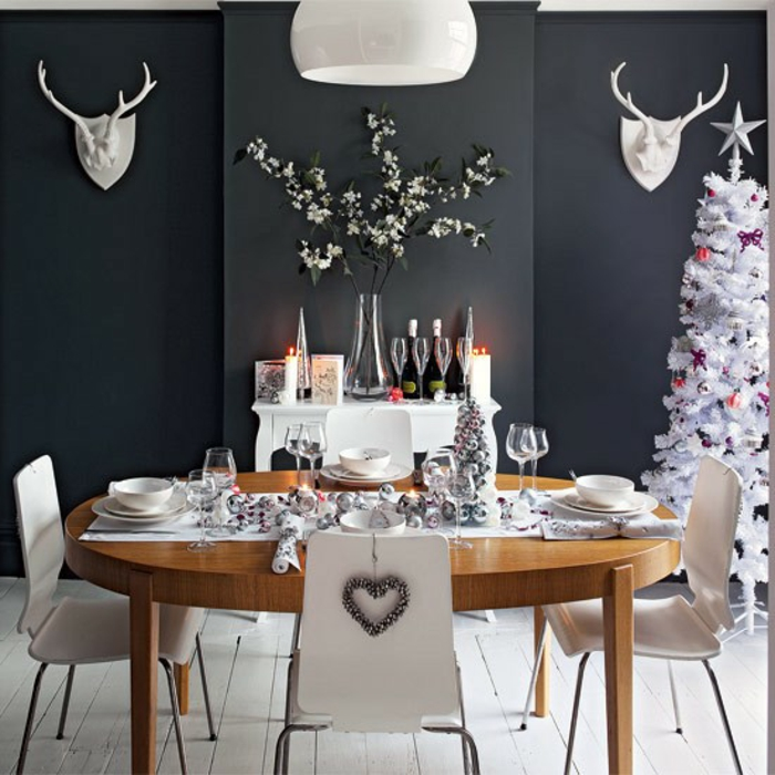 décoration de table de noël moderne décoration