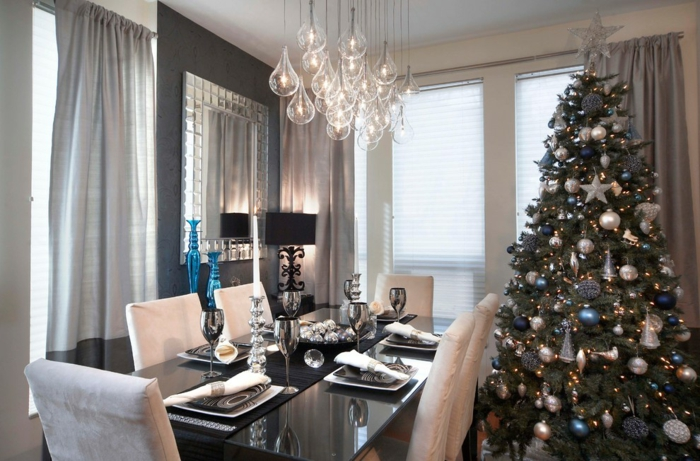 décoration de table de noël moderne et de style