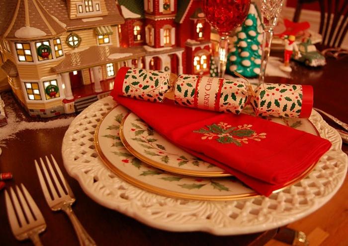 décoration de table de noël objets déco