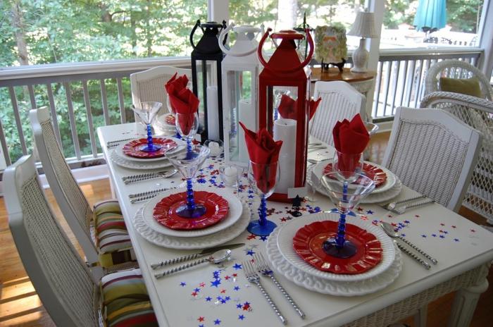 décoration de table de noël party de noël