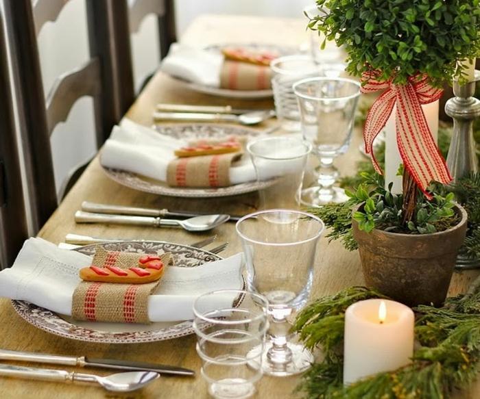 décoration de table de noël simple et chic