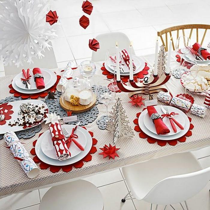 décoration de table de noël table noël