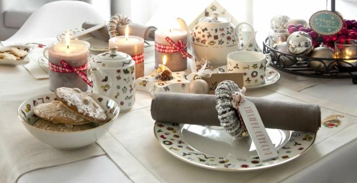 décoration de table de noël vaisselle thématique