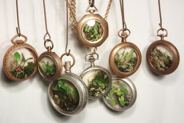 diy cadeau noël collier avec mini plantes