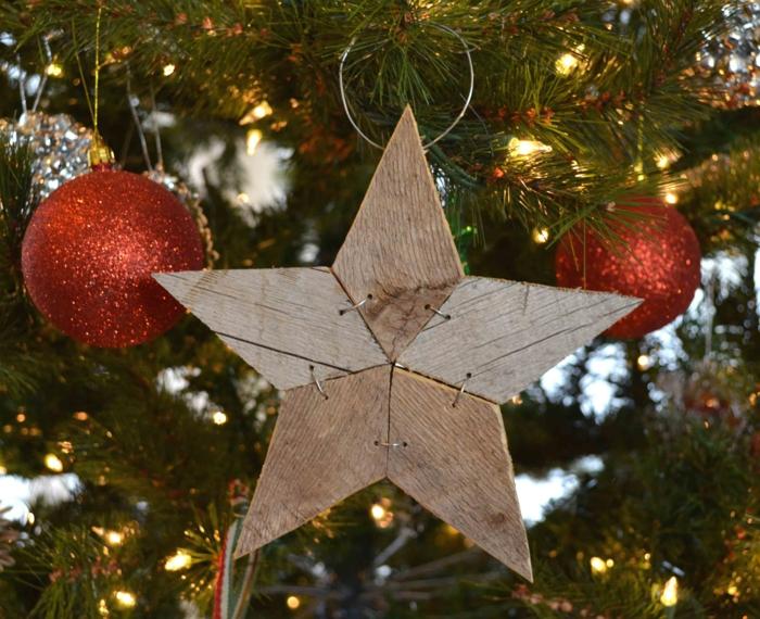 diy idée étoile en bois déco de noël